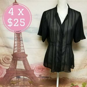 Charlotte Russe see through blouse